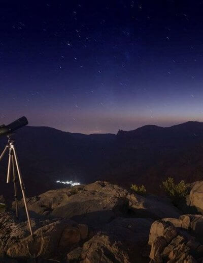 Privát utazás Omán csillagvizsgálás