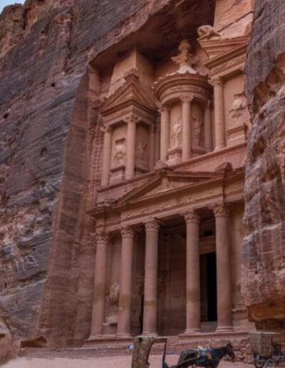 Privát Jordánia utazás Petra bejárat