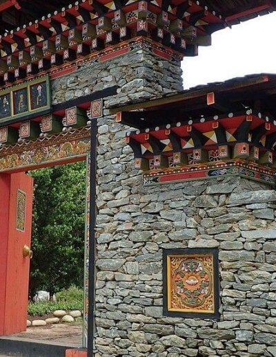 Privát utazás Bhután építészet
