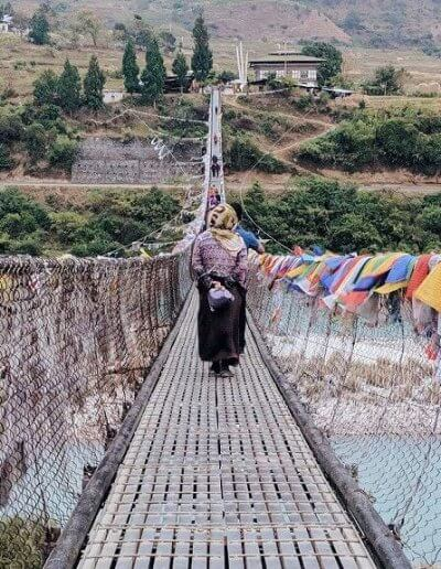 Privát utazás Bhután függőhíd